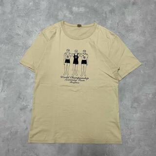 トゥモローランド(TOMORROWLAND)のフロッキープリントT BLUE WORK トゥモローランド(Tシャツ/カットソー(半袖/袖なし))