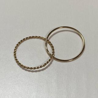ココシュニック(COCOSHNIK)のCOCOSHNIK 二連ピンキーリング(リング(指輪))