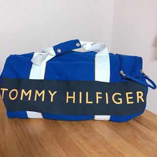 トミーヒルフィガー(TOMMY HILFIGER)の《美品》トミーヒルフィガー ボストンバッグ ブルー×ホワイト(ボストンバッグ)