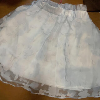 グレイル(GRL)のGRL グレイル オーガンジー レース スカート(ひざ丈スカート)