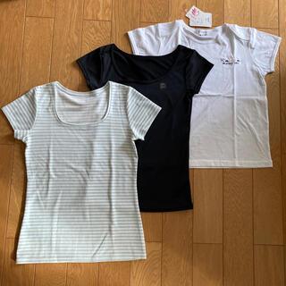 ワコール(Wacoal)のワコール Tシャツ 半袖 白Tシャツ 黒Tシャツ 3枚セット M まとめ売り (Tシャツ(半袖/袖なし))