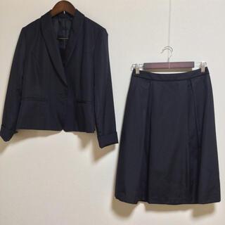 コムサイズム(COMME CA ISM)の【新品同様】コムサ イズム スカートスーツ 11 春夏秋 濃紺 ネイビー OL(スーツ)