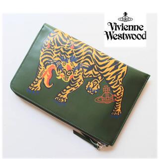 ヴィヴィアンウエストウッド(Vivienne Westwood)の《ヴィヴィアンウエストウッド》新品 タイガープリント レザーマルチケース ポーチ(ポーチ)