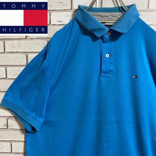 TOMMY HILFIGER - 90s 古着 トミーヒルフィガー  ポロシャツ ワンピース 刺繍ロゴ ゆるだぼ