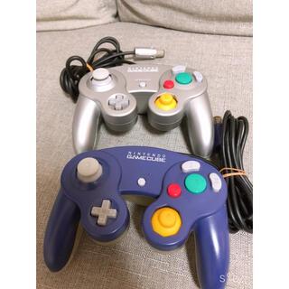任天堂 - ゲームキューブコントローラー 中期型 シルバー ブルー