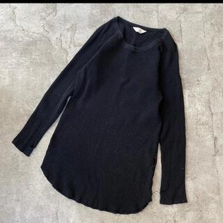 アンユーズド(UNUSED)のアンユーズド コットン ワッフル ロングスリーブ ロング Tシャツ サイズ 0(Tシャツ/カットソー(七分/長袖))
