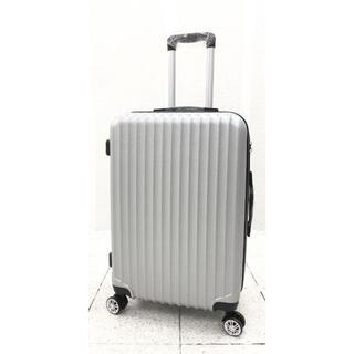 小型軽量スーツケース8輪キャリーバッグTSAロック付 機内持込Sサイズ シルバー(旅行用品)