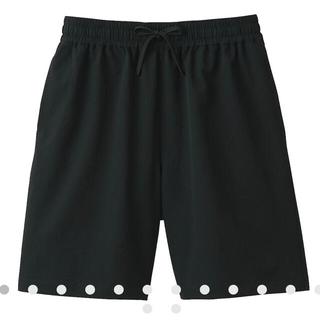 ムジルシリョウヒン(MUJI (無印良品))の【男女兼用】風を通すイージーショートパンツ  男女兼用XS・黒(ショートパンツ)