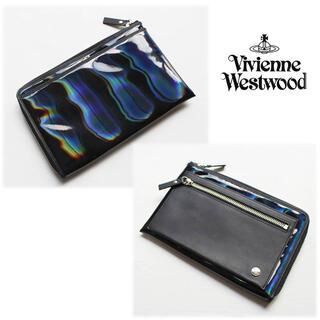 ヴィヴィアンウエストウッド(Vivienne Westwood)の 《ヴィヴィアンウエストウッド》新品 ホログラム レザー切替ミニバッグ 男女兼用(その他)