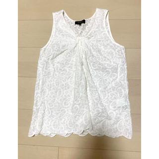 デミルクスビームス(Demi-Luxe BEAMS)のトップス ホワイト (シャツ/ブラウス(半袖/袖なし))