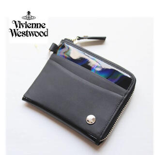 Vivienne Westwood - 《ヴィヴィアンウエストウッド》新品 ホログラム レザー切替 L字ファスナー式財布