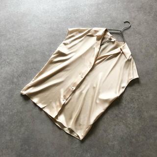 ビンス(Vince)の新品 VINCE. ビンス シルク 100% フレンチスリーブブラウス(シャツ/ブラウス(半袖/袖なし))