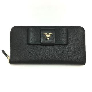 プラダ(PRADA)のPRADA / プラダ サフィアーノ リボン付き長財布(財布)