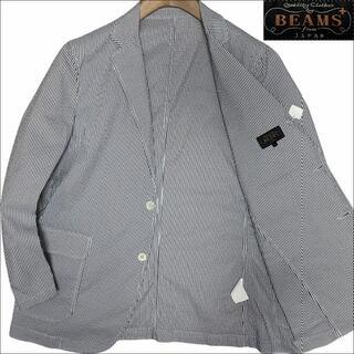 ビームス(BEAMS)のJ5187 美品 ビームスプラス シアサッカー サマージャケット 水色 L(テーラードジャケット)