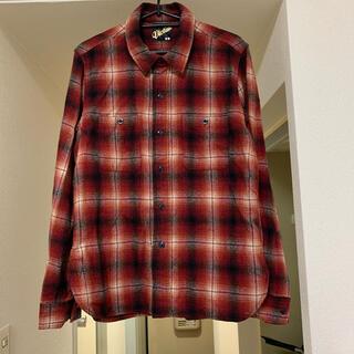 ヴィクティム(VICTIM)のVICTIM 赤チェックウールネルシャツ M(シャツ)