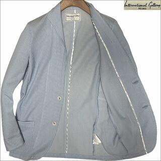ビームス(BEAMS)のJ5182美品インターナショナルギャラリービームス リネンサマージャケット水色S(テーラードジャケット)