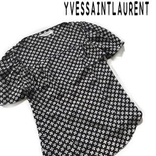 イヴサンローランボーテ(Yves Saint Laurent Beaute)のYSL イブ サン ローラン 半袖 シャツ レトロ ヴィンテージ(シャツ/ブラウス(半袖/袖なし))
