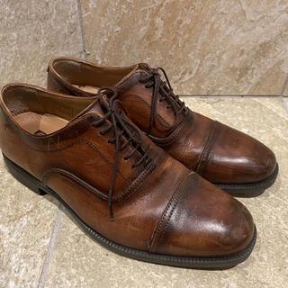 ホーキンス(HAWKINS)のHawkins ホーキンス 紳士 革靴 通勤用 ブラウン レザー 25.0cm(ドレス/ビジネス)