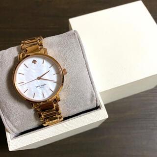 kate spade new york - 【美品!!】ケイトスペード シェル調 腕時計 ピンクゴールド 夏 旅行に🎀
