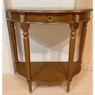 アクタス(ACTUS)の美品 クラシック ヨーロピアン サイドテーブル コンソール アンティーク(コーヒーテーブル/サイドテーブル)