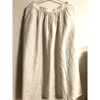 ムジルシリョウヒン(MUJI (無印良品))の無印 リネン100%スカート(ロングスカート)