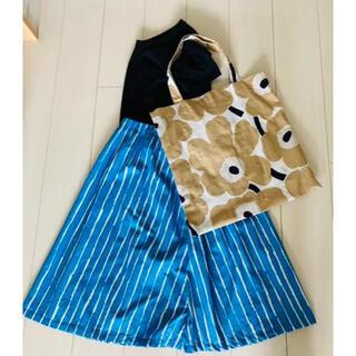 マリメッコ(marimekko)のマリメッコ ラッキーポプリン フレアスカート(ひざ丈スカート)