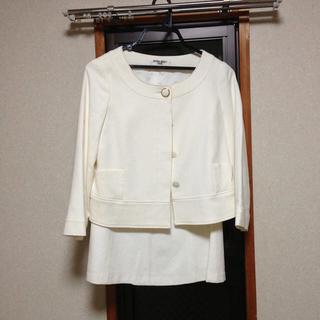 ナチュラルビューティーベーシック(NATURAL BEAUTY BASIC)の白スーツ(スーツ)