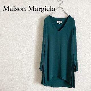 マルタンマルジェラ(Maison Martin Margiela)の美品 Maison Margiela ワンピース インナープリーツ 洗練(ひざ丈ワンピース)