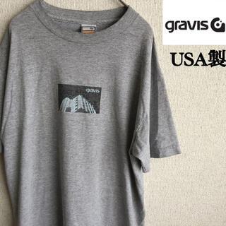 グラビス(gravis)の90s USA製 gravis 半袖 プリント Tシャツ グラビス Mサイズ(Tシャツ/カットソー(半袖/袖なし))