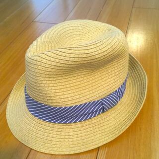 ジーユー(GU)の子供用 中折れ麦わら帽子 54 ㌢(帽子)