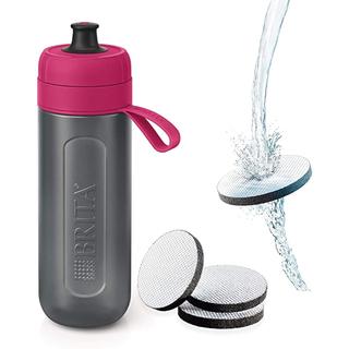 ブリタックス(Britax)のブリタ  携帯用  浄水器 ボトル  ピンク ライム カートリッジ セット(水筒)