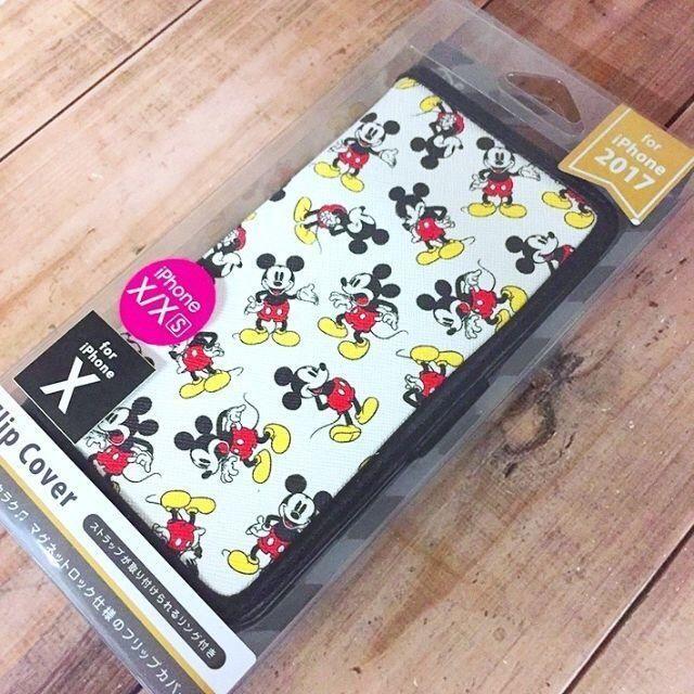 ミッキーマウス(ミッキーマウス)の残少 ミッキー iPhoneX/Xs 兼用 フリップカバー スマホ/家電/カメラのスマホアクセサリー(iPhoneケース)の商品写真