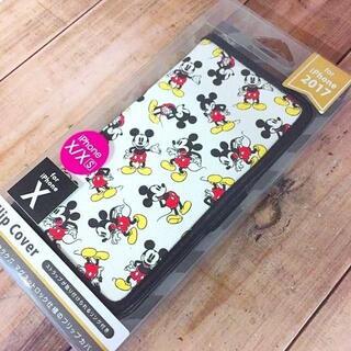 ミッキーマウス(ミッキーマウス)の残少 ミッキー iPhoneX/Xs 兼用 フリップカバー(iPhoneケース)