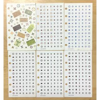 ルイヴィトン(LOUIS VUITTON)のLOUIS VUITTON☆正規品☆手帳☆シール☆6枚セット(シール)