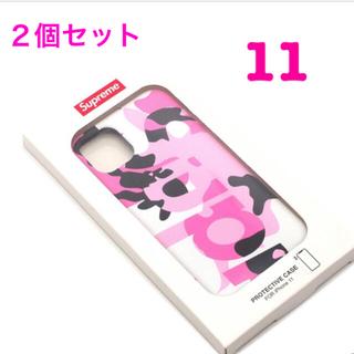 シュプリーム(Supreme)のSupreme iPhone11用 ピンク 2個セット(iPhoneケース)