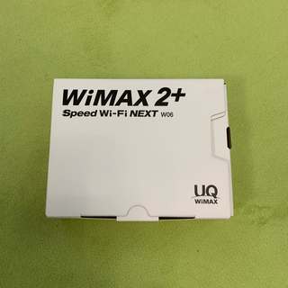 HUAWEI - 箱有りUQ wimax W06本体