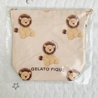 ジェラートピケ(gelato pique)のジェラートピケ ジェラピケ ライオン 巾着 巾着S(ランチボックス巾着)