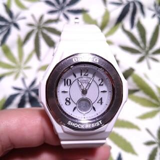 ベビージー(Baby-G)の電波ソーラー 腕時計 CASIO Baby-G bga-1050 ホワイト(腕時計)