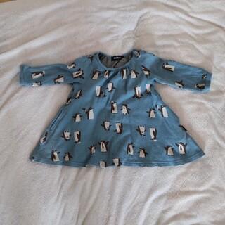 kladskap - 中古 ペンギン柄女児90センチ長袖チュニック