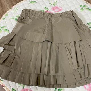 ジェーンマープル(JaneMarple)のジェーンマープル カーキ 段々スカート(ひざ丈スカート)