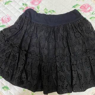 ジェーンマープル(JaneMarple)のジェーンマープル 黒 スカート(ひざ丈スカート)