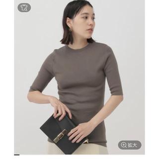 ドゥーズィエムクラス(DEUXIEME CLASSE)のChaos コットンハーフスリーブニット カーキ新品(Tシャツ/カットソー(半袖/袖なし))