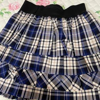 ジェーンマープル(JaneMarple)のジェーンマープル 青タータンチェックスカート(ひざ丈スカート)