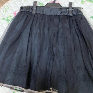 ジェーンマープル(JaneMarple)のジェーンマープル 黒チュールスカート(ひざ丈スカート)