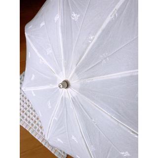 バーバリー(BURBERRY)のバーバリー 日傘  オフホワイト(傘)