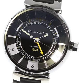 ルイヴィトン(LOUIS VUITTON)の☆良品 ルイ・ヴィトン タンブール GMT Q113I メンズ 【中古】(腕時計)