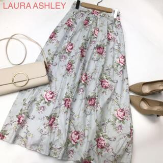 ローラアシュレイ(LAURA ASHLEY)のLAURA ASHLEY ローラアシュレイ ロングスカート 花柄 1873(ロングスカート)
