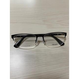 プラダ(PRADA)のPRADA メガネフレーム ブラック VPR52S(サングラス/メガネ)