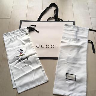 グッチ(Gucci)のGUCCI ミッキーマウス コラボ シューズケース 2足分(その他)