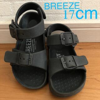 ブリーズ(BREEZE)のBREEZE サンダル 黒 17cm(サンダル)